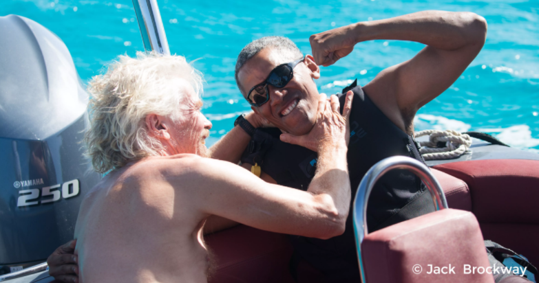 Richard Branson vs Barack Obama Kitesurfing