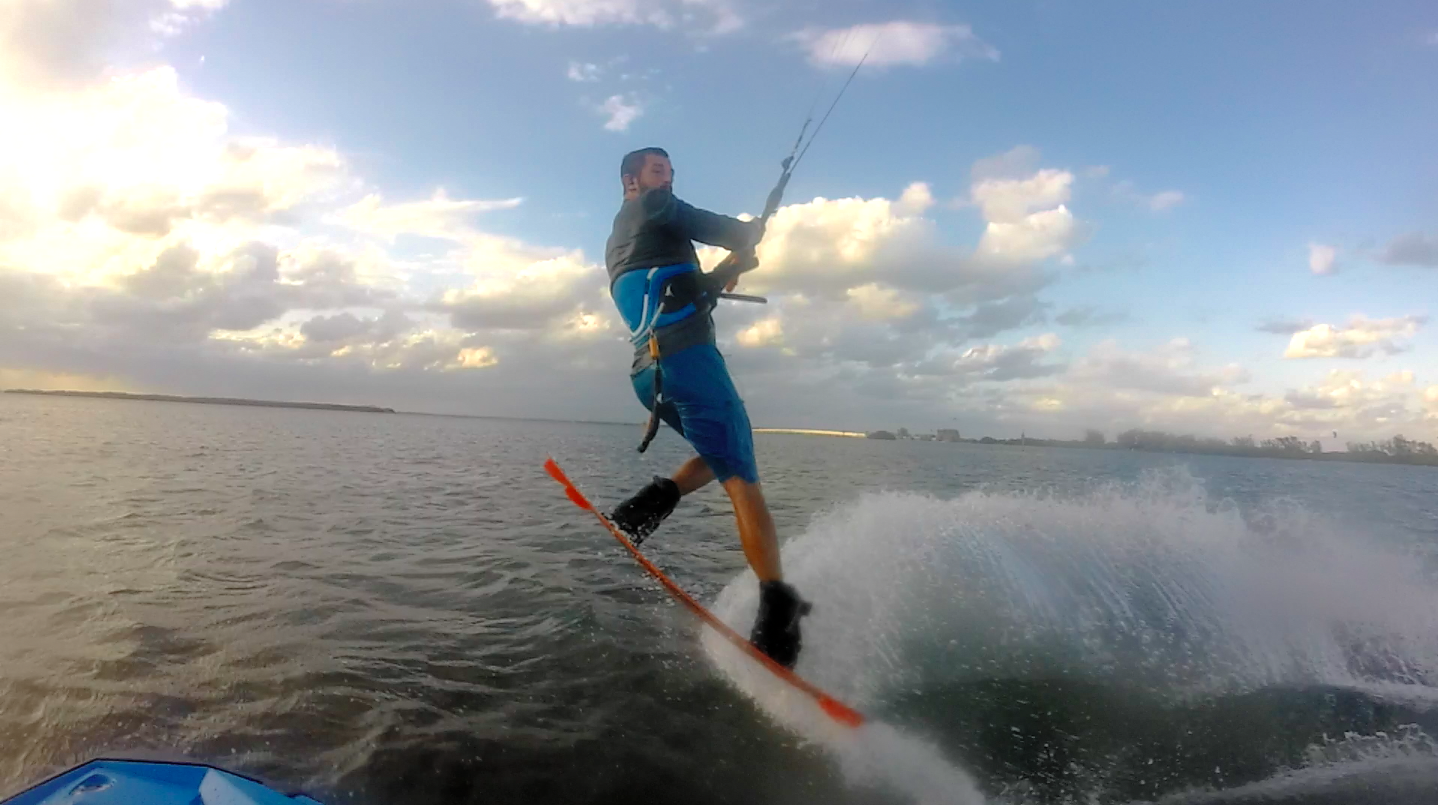 Learning How to Kiteboard with a Jetski
