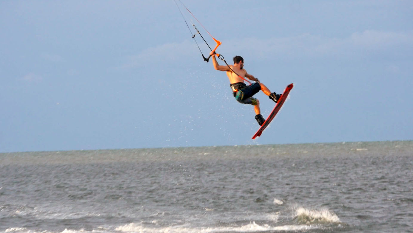 Kiteboarding Tropical Storm Cindy