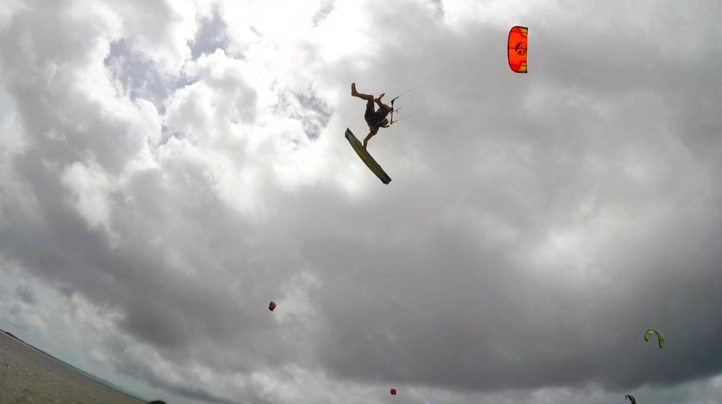 In-between Kiteboard Lessons: Kite Instructors Having Fun
