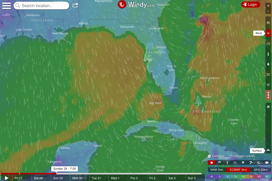 Weekend Wind Forecast: October 28th – 29th